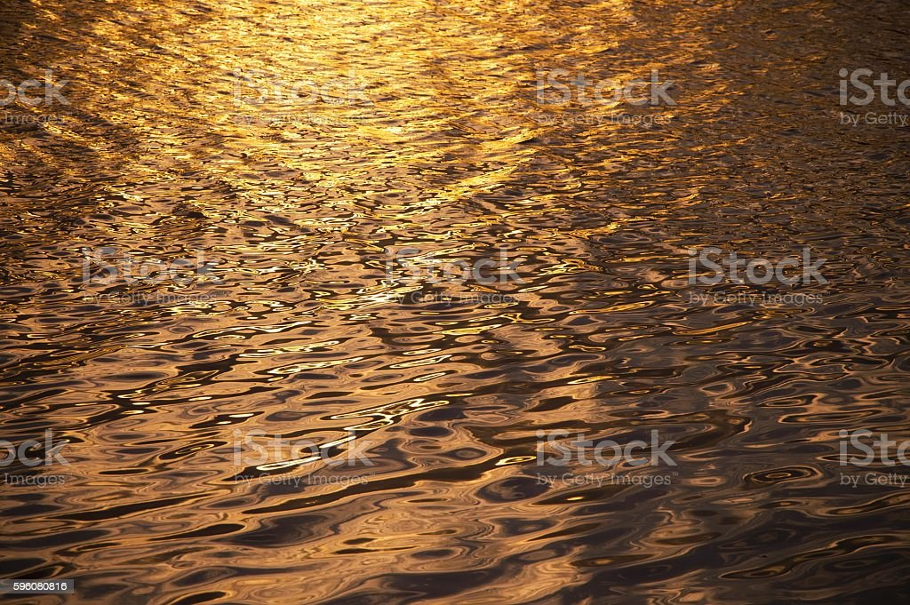 Water background in sunset time royalty-free stock photo