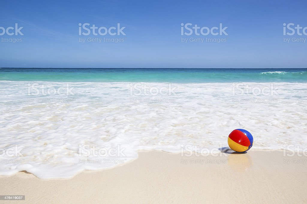 beach ball on beach. Water Ball At The Beach Stock Photo On