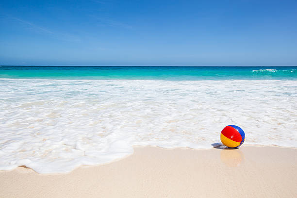 water ball at the beach - beach ball stock photos and pictures