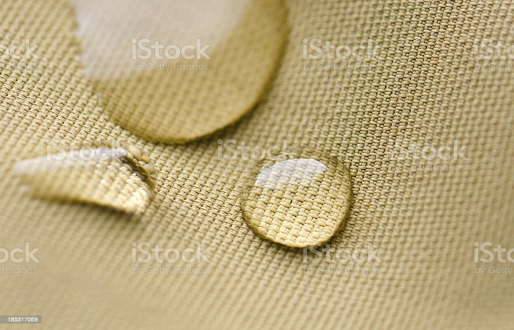 Water Beads on Waterproof Textile stock photo