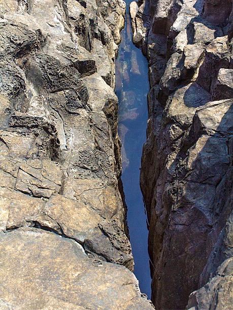 Water between rocks stock photo