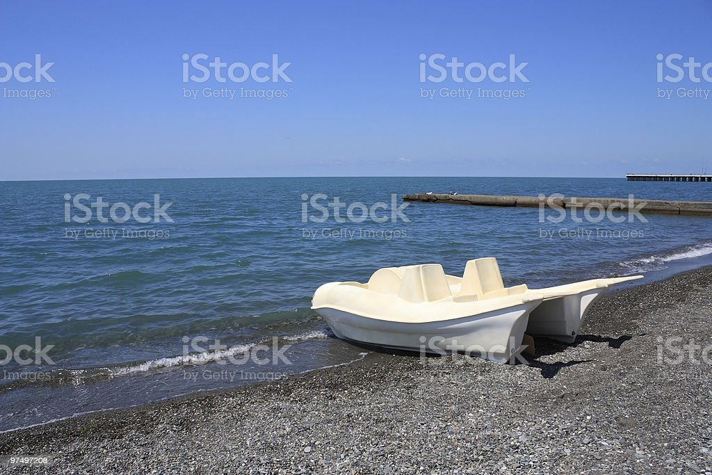 Water bicycle on a beach royalty-free stock photo