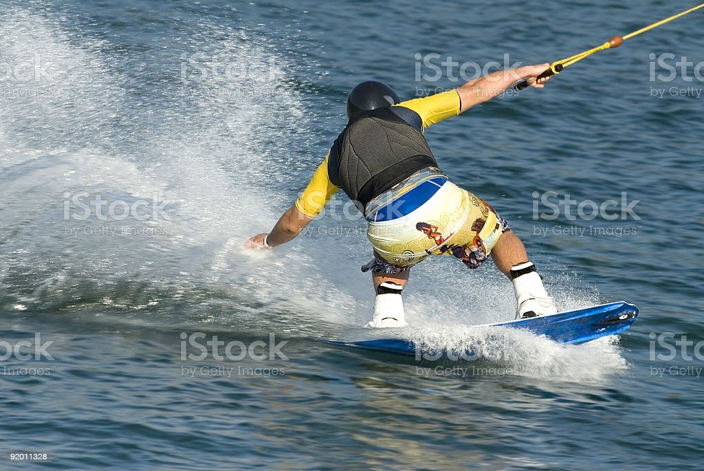water boarding royalty-free stock photo