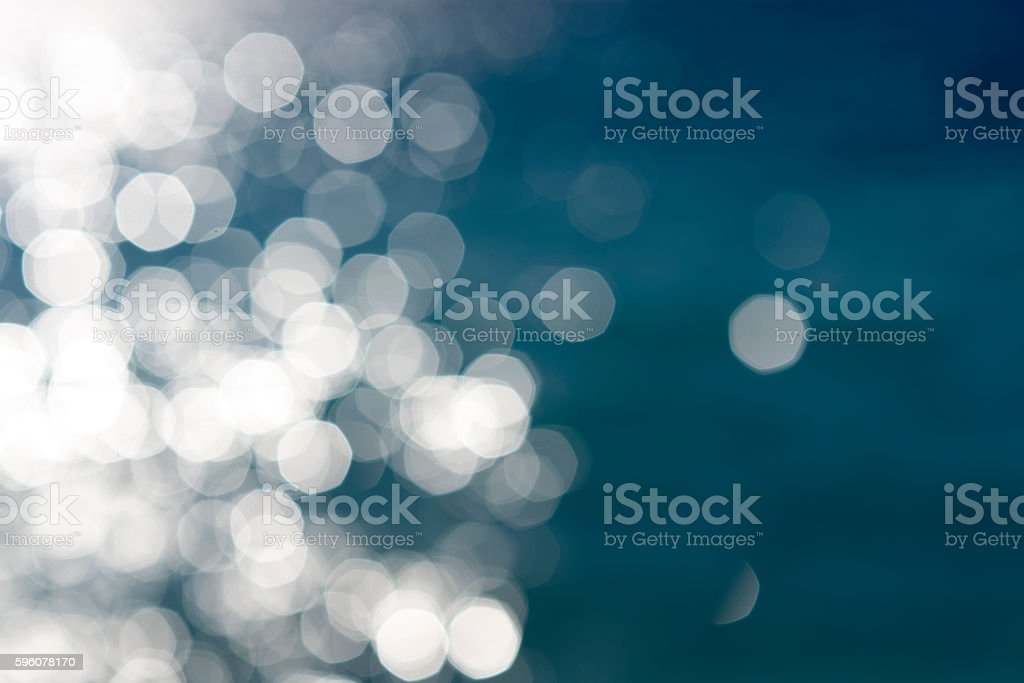 Water bokeh background. Lights on sea background. royalty-free stock photo