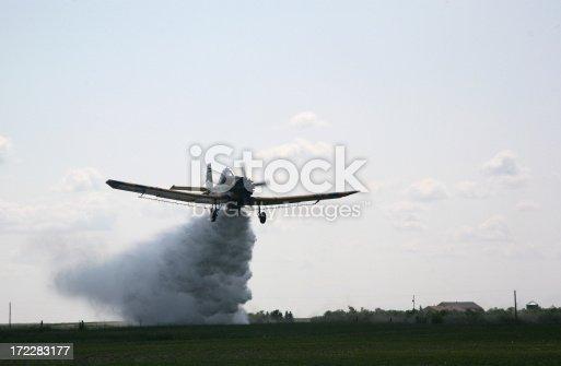 water bombing spray plane