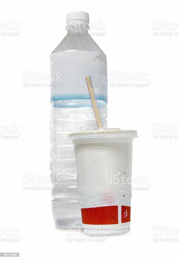 물 병 및 컵 royalty-free 스톡 사진