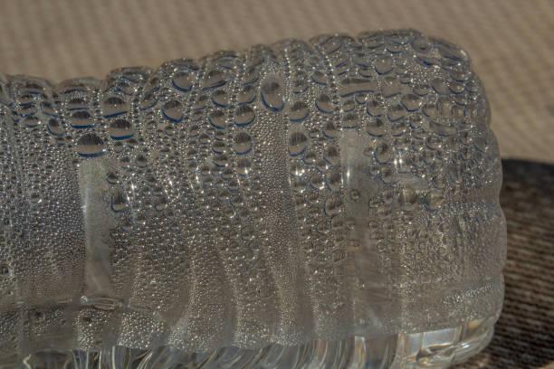 water bottle condensation stock photo