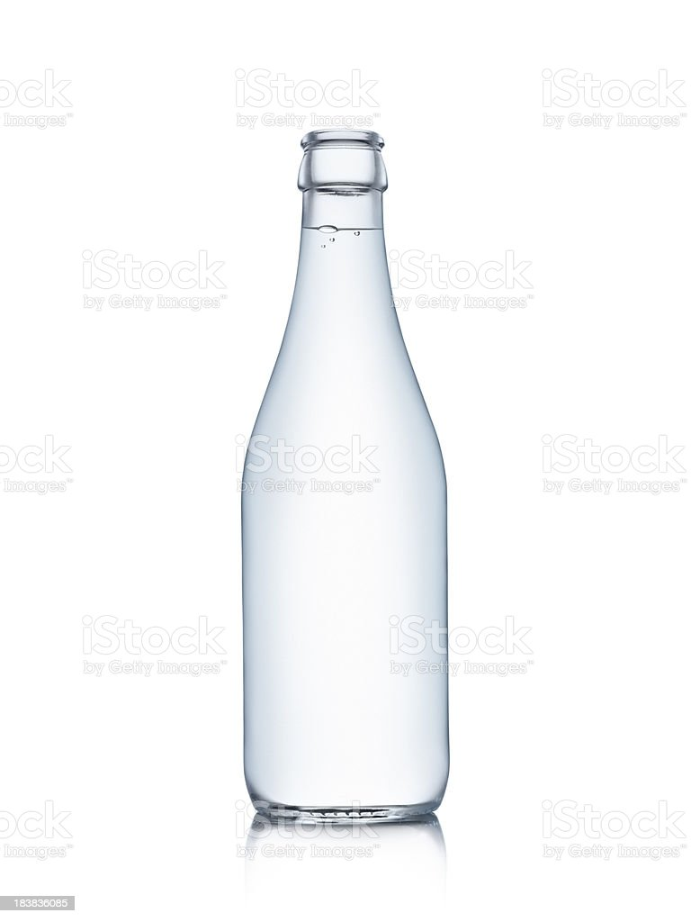 Water bottle isolated on white stock photo