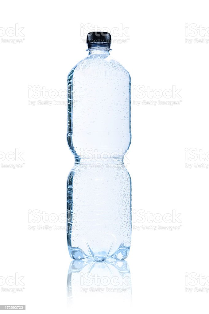 Water Bottle, isolated royalty-free stock photo