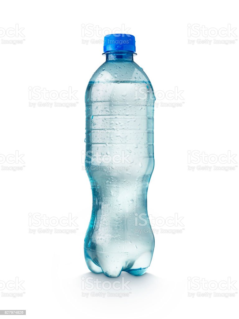 Water Bottle On White Background stock photo