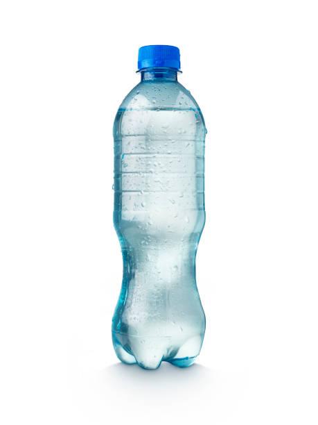 garrafa de água no fundo branco - sports water bottle - fotografias e filmes do acervo