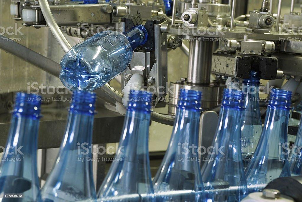 Water bottle production machine royalty-free stock photo
