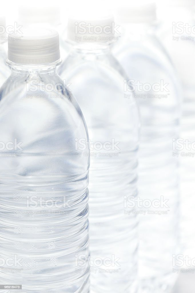 Water Bottles Abstract royalty-free stock photo