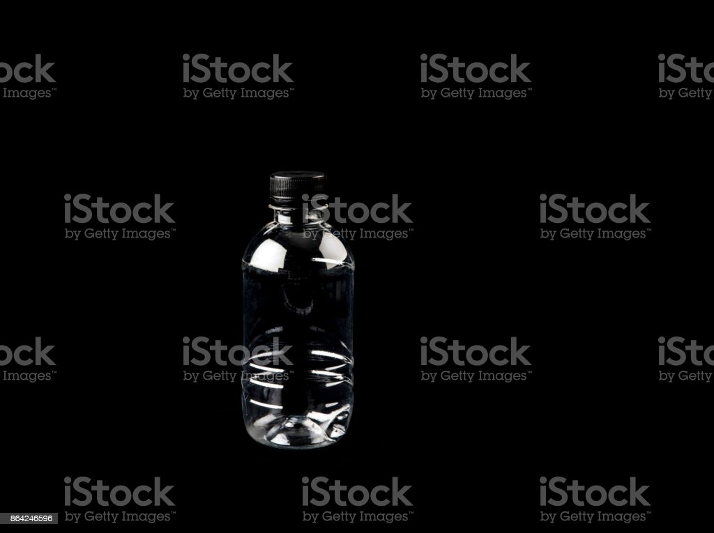 water bottles isolated on black background royalty-free stock photo
