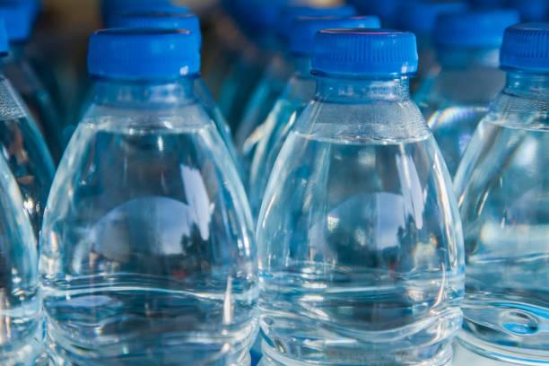Water bottles stock photo