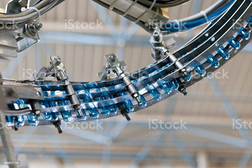 Water Bottling Plant Machinery stock photo