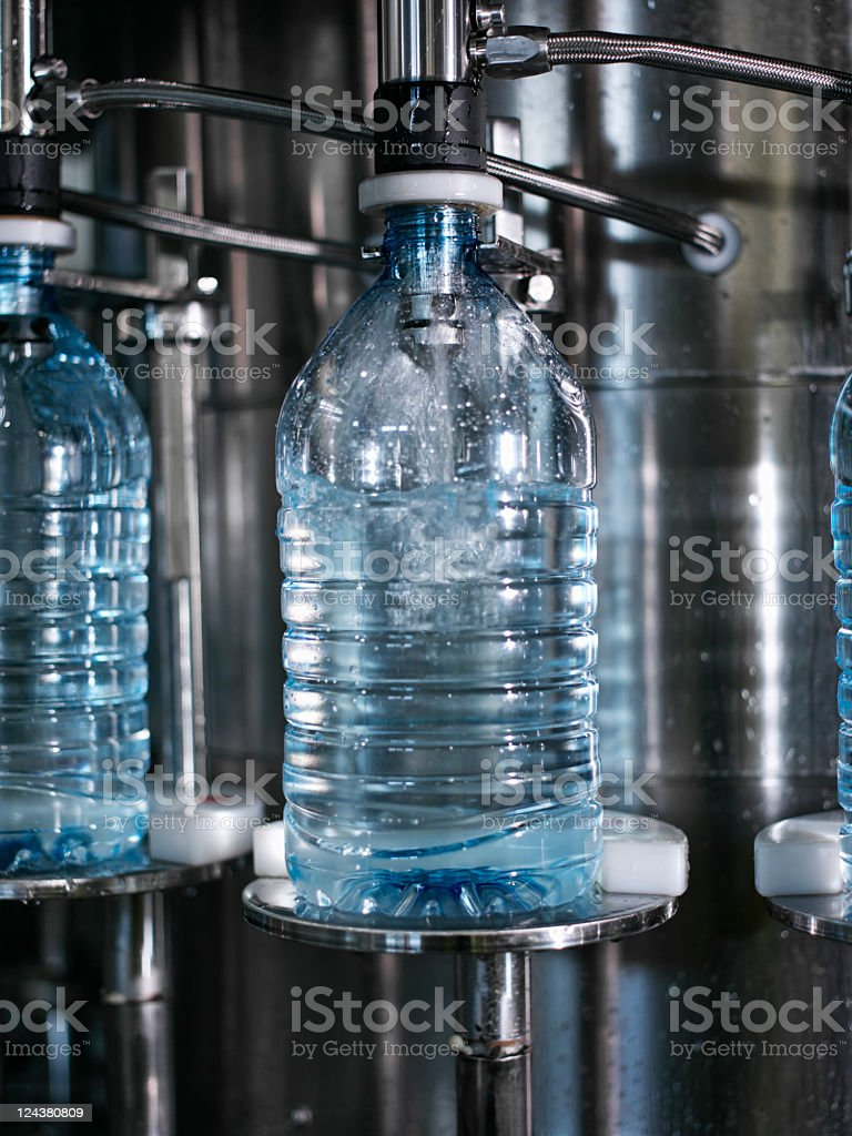 water bottling plant stock photo