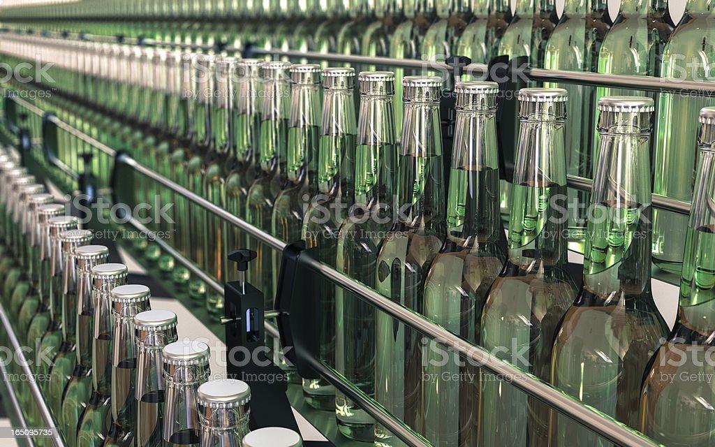 Water Bottling Plant stock photo