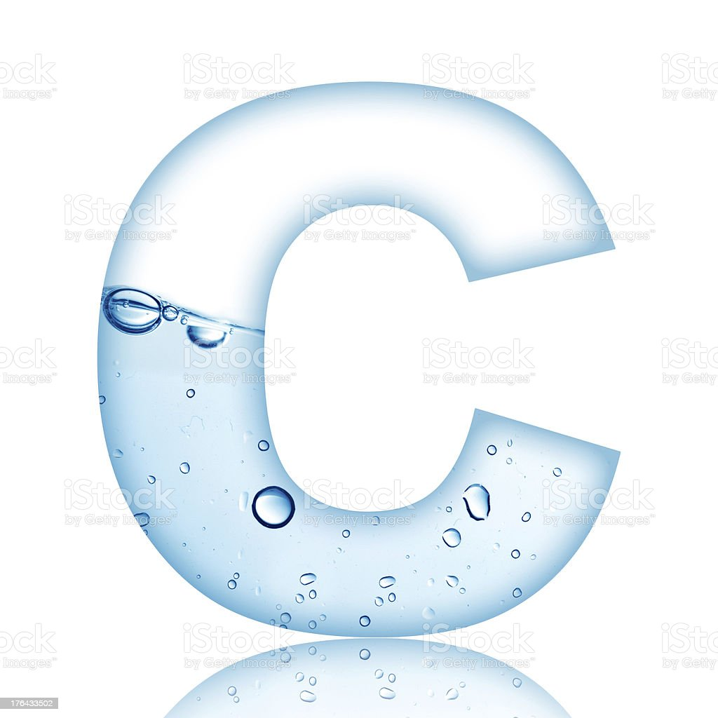 Water Bubble Letter C stock photo