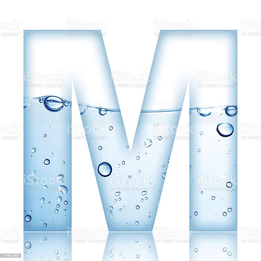 Water Bubble Letter M stock photo