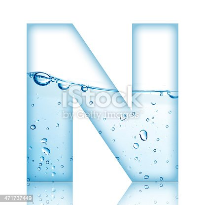 bubble letter n water letter n stock photo amp more pictures of 20705