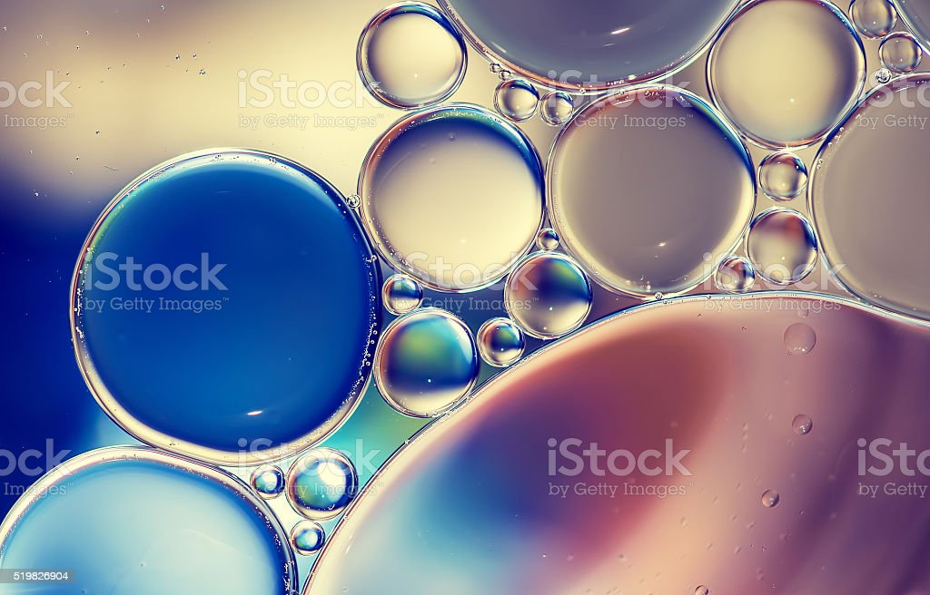 Water bubbles background stock photo