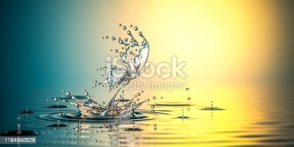 472598792istockphoto Water Butterfly. The birth of the life 1164540529