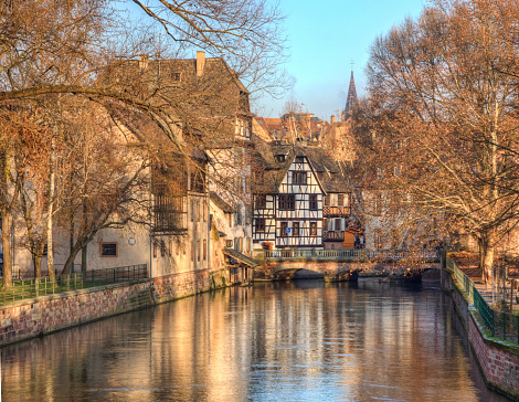 Water Canal In Strasbourg Stock Photo - Download Image Now