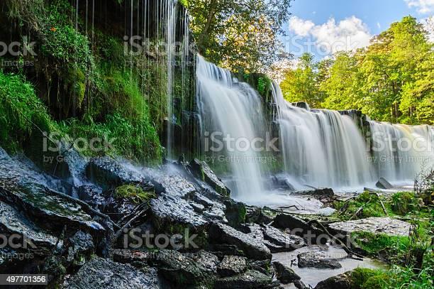 Photo of Water cascading down from Keila-Joa waterfall, Estonia
