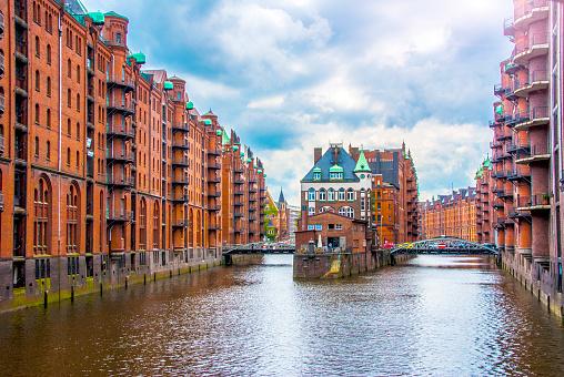 Water Castle in Hamburg's Hafen City