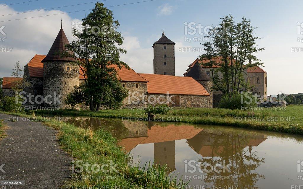 Water Castle Svihov stock photo