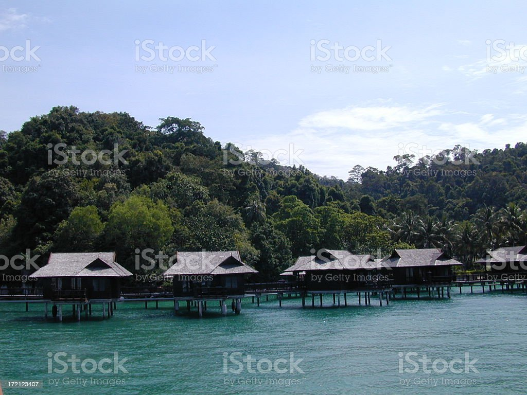 Water Chalets royalty-free stock photo