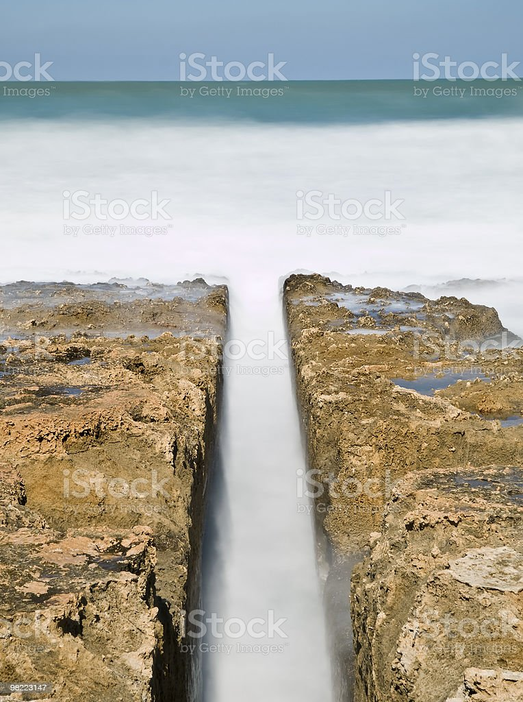 Water Channel to the Sea royalty-free stock photo