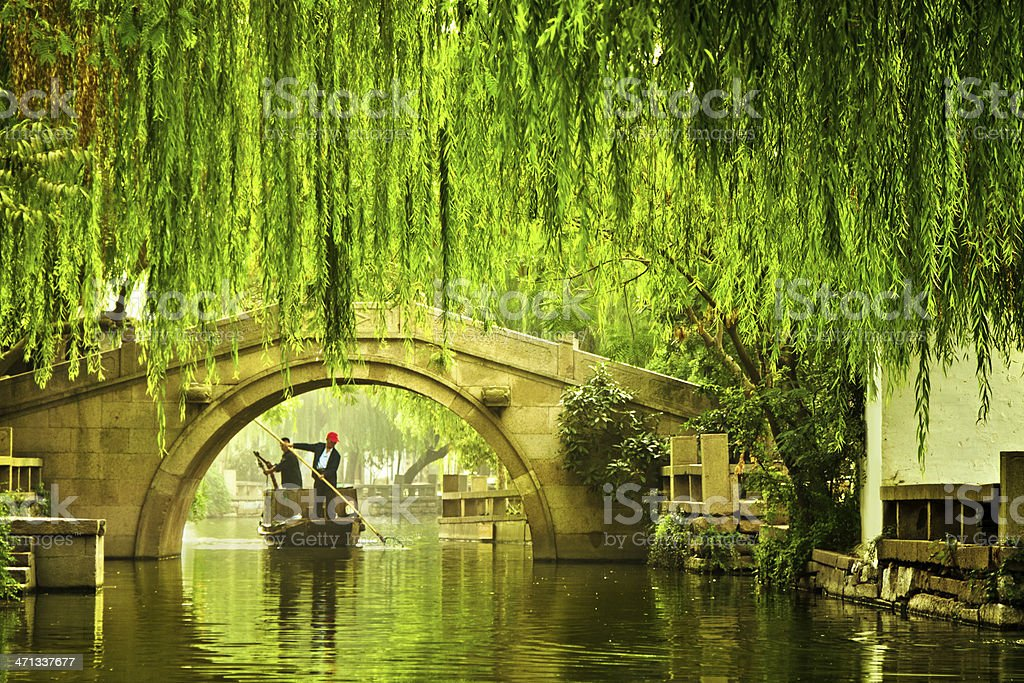 Water city in China stock photo