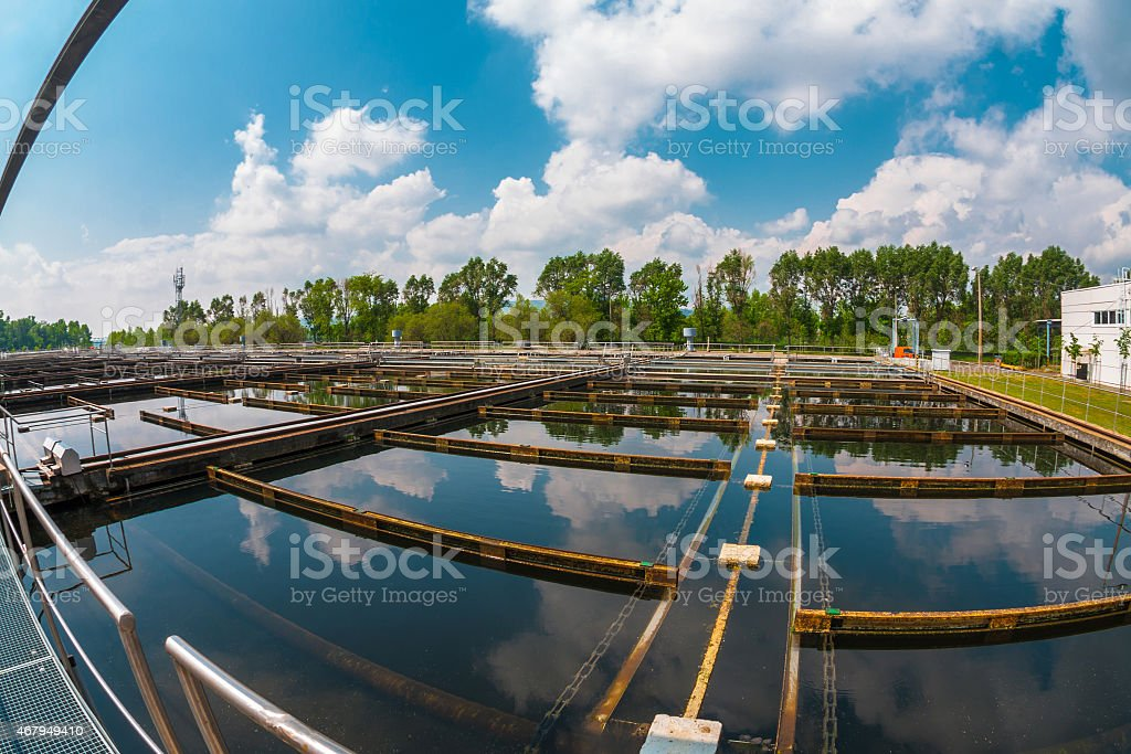 Water cleaning facility stock photo