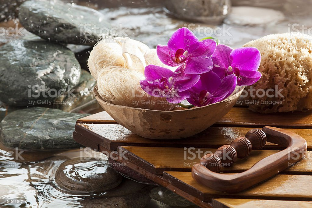 water cleansing for beauty stock photo