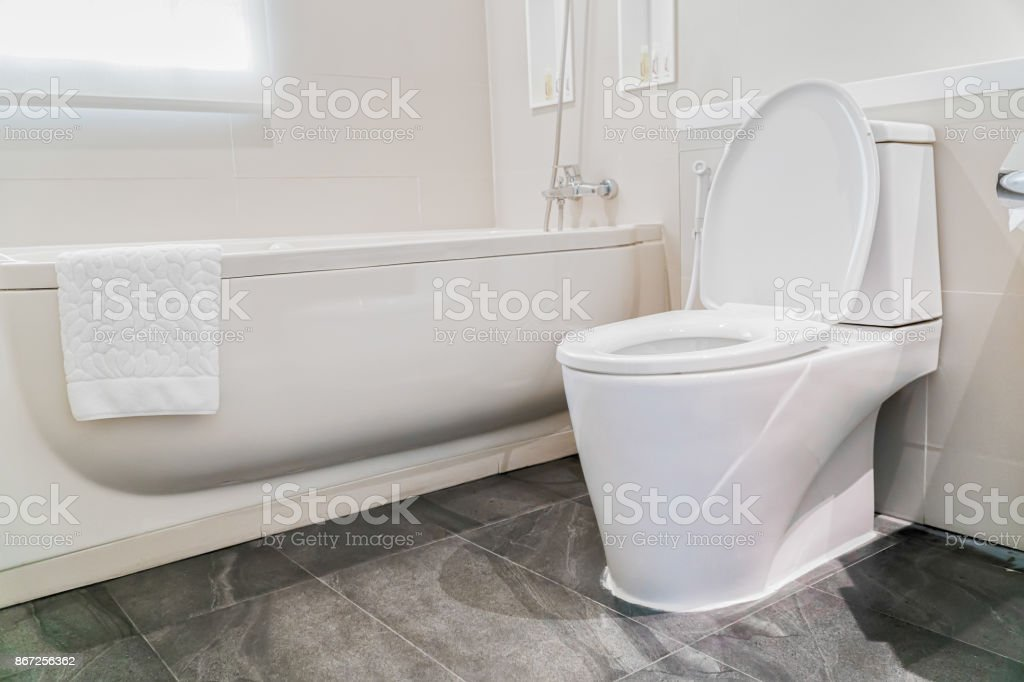 ... Water Closet In Bathroom Stock Photo ...
