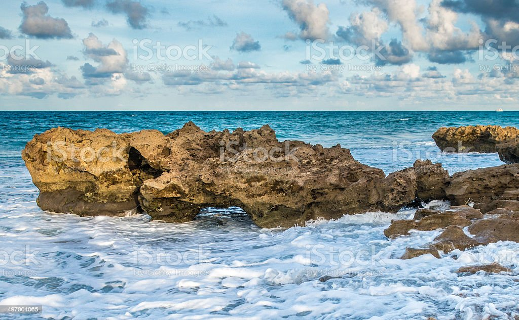 Water Cloud Rocks stock photo