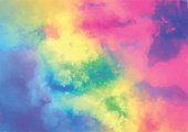Abstract background with a colourful watercolour texture