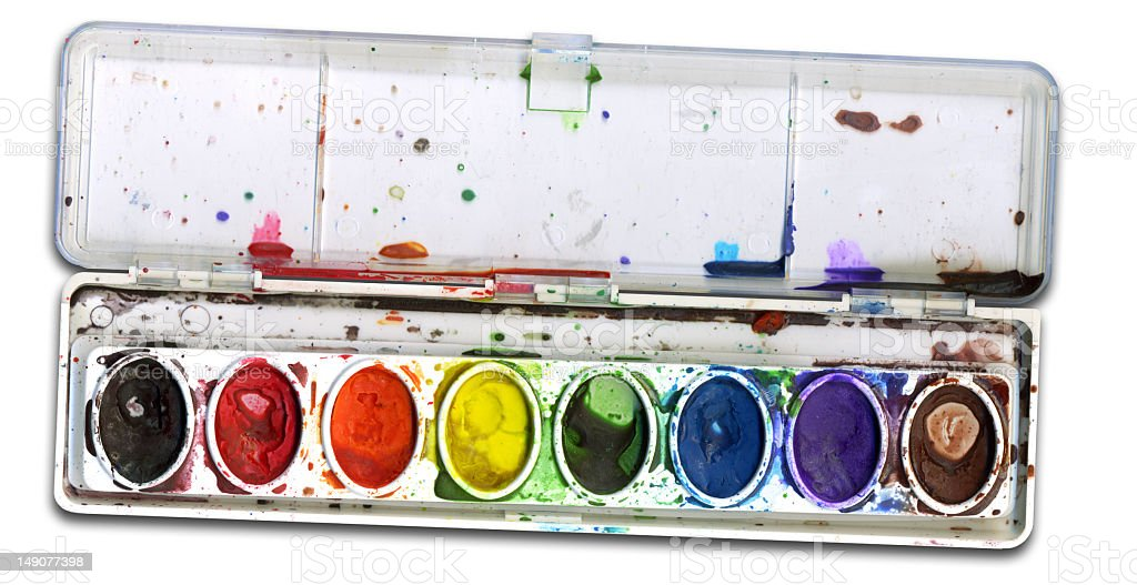 Water Color brush set HIGH REZ royalty-free stock photo