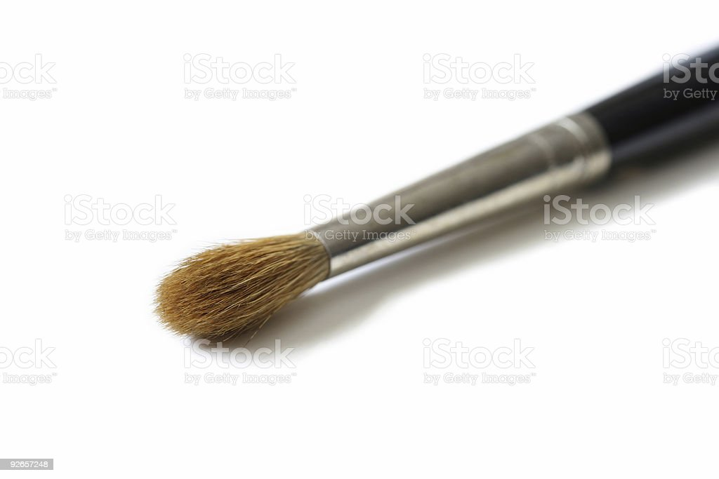 Water color paintbrush maco royalty-free stock photo