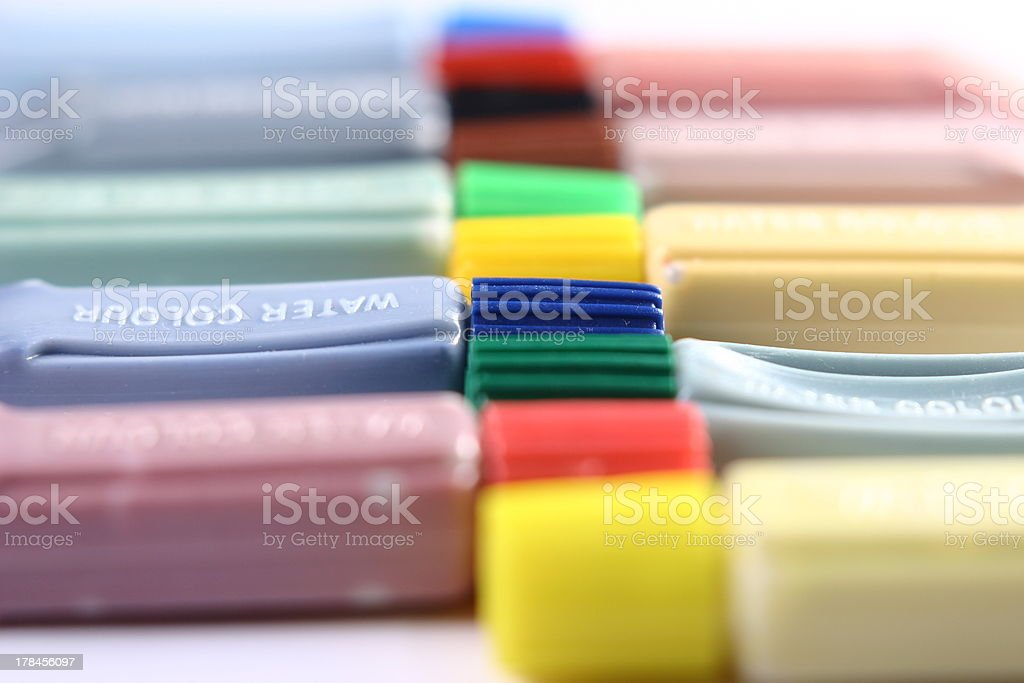 Water Color Tubes stock photo