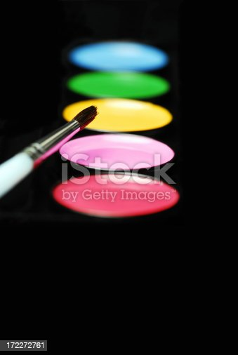 istock Water colors with brush (Portrait version) 172272761