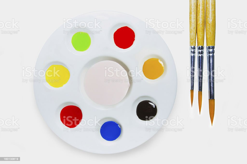 Water Colour paint lens brush wood royalty-free stock photo