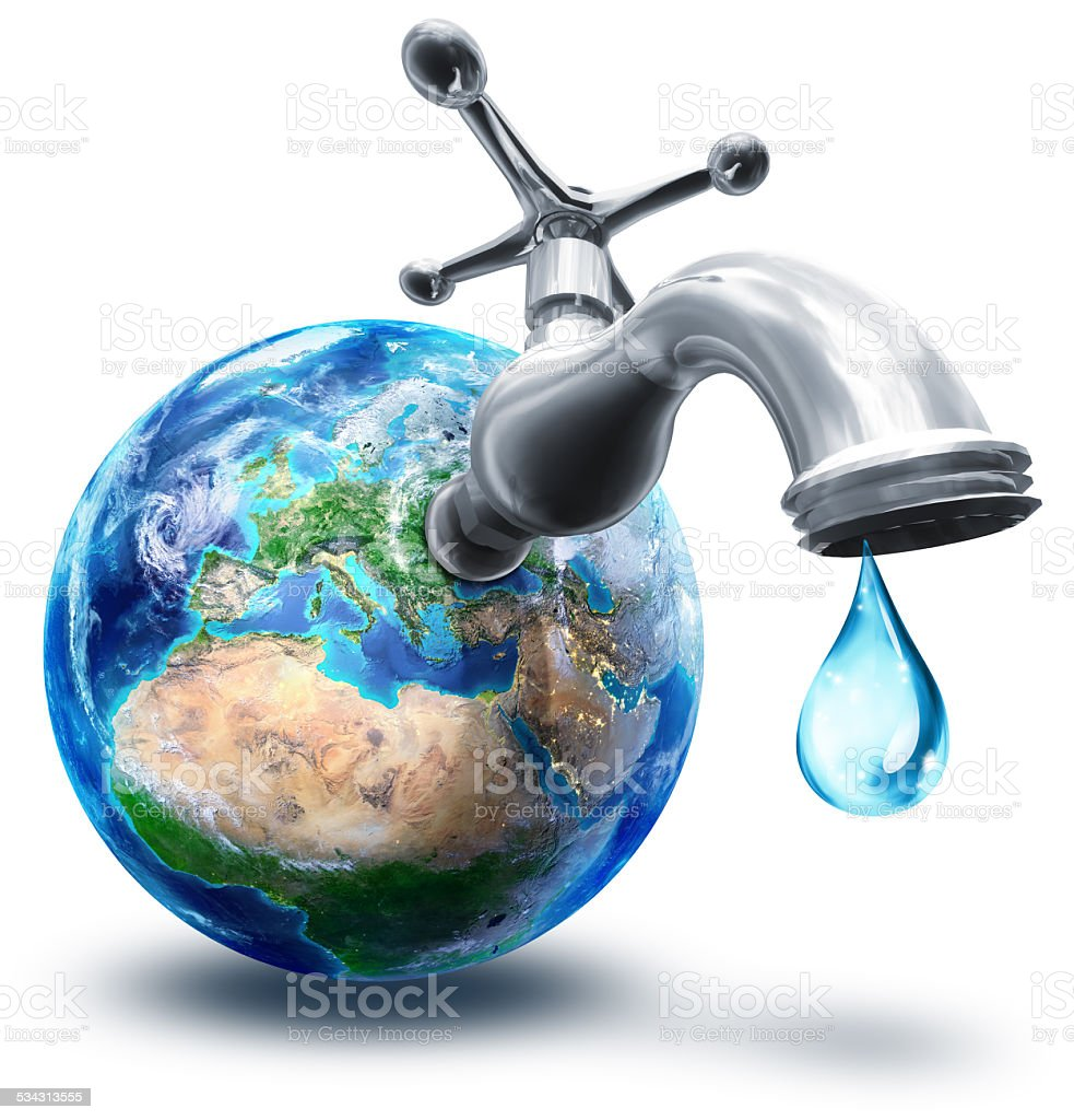 water conservation concept in Europe stock photo