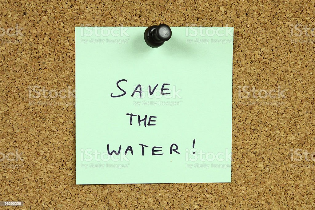 Water conservation stock photo
