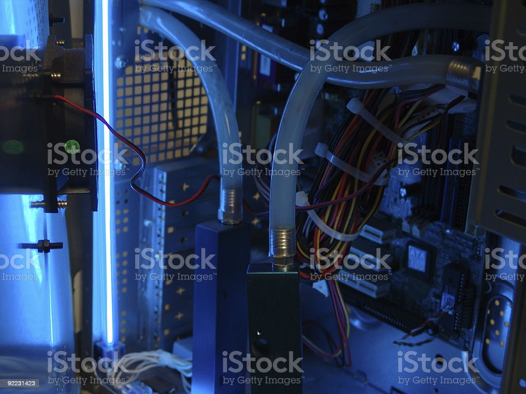 Water Cooled Computer royalty-free stock photo