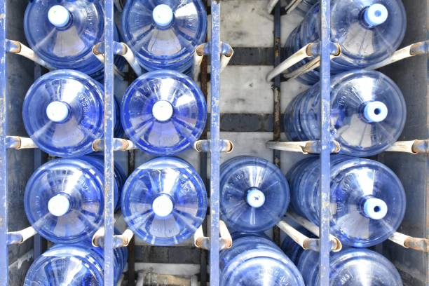 Water Cooler Containers stock photo