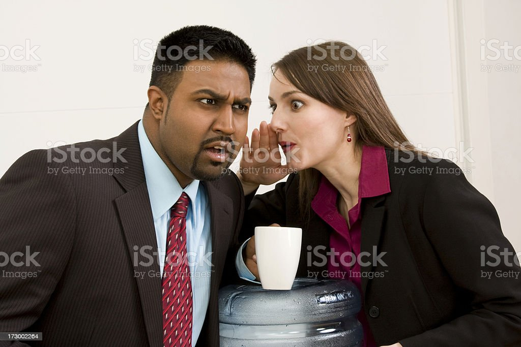 water cooler gossip royalty-free stock photo