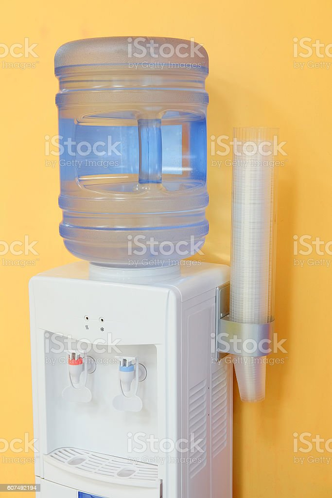 water cooler in an office stock photo